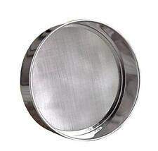 New listing Steel Professional Round Flour Sieve Strainer with 40 Mesh (6 Inch, 18/8 Steel)