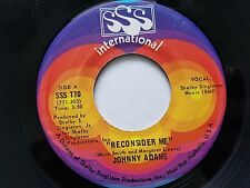 """JOHNNY ADAMS - Reconsider Me / If I Could See You One More Time 1969 SOUL 7"""" sss"""