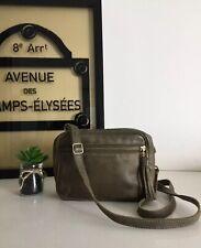 Roots Canada Dark Green Leather Camera Shoulder Crossbody Bag