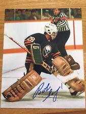 Buffalo Sabres Bob Sauve signed 8x10 W/COA pose 3