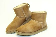 UGG Australia Womens Size 9 40 Classic Mini Suede Shearling Ankle Boots 5854