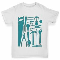 Twisted Envy Boy's Tools Of Mass Construction Printed Cotton T-Shirt