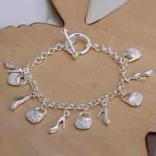 beautiful Fashion cute nice silver charms shoe women bracelet  H108