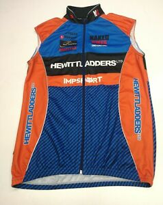 Impsport Mens Cycling Jersey, Size M, Blue Mix, Good Condition AC1