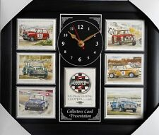 Mini Cooper Racing & ralliement SUPERBE COLLECTOR cartes Horloge Murale