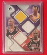 Michael Jordan Wilt Chamberlain Kareem Karl Moses Hakeem SP Game Used Patch /99