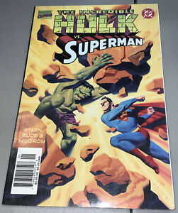 Incredible Hulk vs Superman Marvel DC Vol 1 1999 Newsstand Variant Milgrom