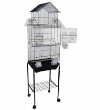 New Tall Cockatiel Parakeet Finch Canary Bird Cage With Black Stand 350