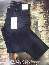Calvin Klein Men's Slim Fit Low Rise Zip Fly Stretch Jeans Osaka Blue 33 30