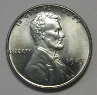 1943 Lincoln Wheat Cent in the CH BU Range Nice Coins Priced Right Shipped FREE