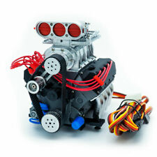 DarkDragonWing 1/10 RC OHV V8 H SC FD Engine Assembled Chrome