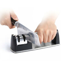 Professional Sharpener 3 Stages Stainless Steel Sharpener Kitchen Stone Tool