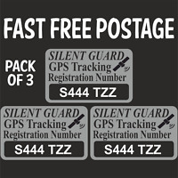 Personalised With Your REG GPS Horse Trailer Tracker Stickers High Deterrent