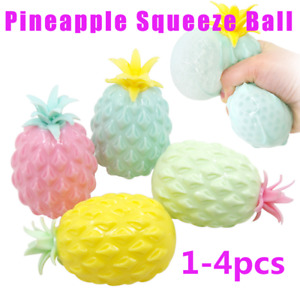 1-4X 3D Pineapple Squeeze Ball Fidget Toy Stress Relief Sensory Autism Anxiety