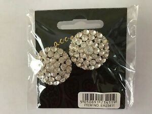 NEW ER23411 2.75 Diameter Crystal Earrings with tags