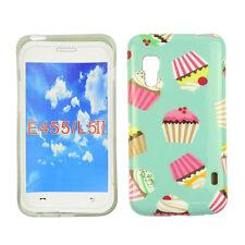 Hülle f LG E460 Optimus L5 II Schutz Tasche Case Cover Etui Handy Cupcake Muffin