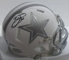 Cowboys EMMITT SMITH Signed ICE Speed Mini Helmet AUTO - HOF 2010  - Beckett COA