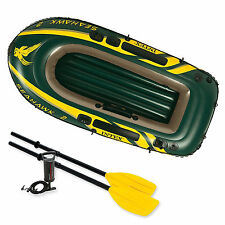 Intex Seahawk 2 + pump + oars two man dinghy tender fishing  #68347