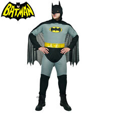 Adults Batman Super Hero Halloween Stag Party Mens Fancy Dress Costume One Size