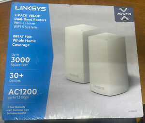 Linksys 2 - Pack VELOP Dual-Band Routers WiFi 5 System -  VLP0102-NP