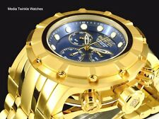 Invicta 54MM S1 SPEEDWAY Swiss Quartz Chronograph Blue Dial 18k Gold Tone Watch