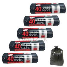 200 Forte Sacs Poubelle Poubelle poubelle Doublure Sacs poubelles 50 L Grande Ta...