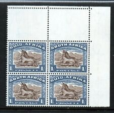 SOUTH AFRICA 1933-48 1/- DEFINITIVE SG62 CORNER BLOCK 4 UNMOUNTED