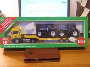 Siku 1984 Scania, Lowloader & 2 x New Holland T7070 Tractors, 1:50, BNIB