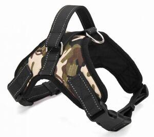 No Pull Dog Pet Harness Adjustable Control Vest Dogs Reflective XS S M XXL Camo