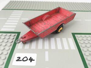 RARE VINTAGE DINKY # 320 HALESOWEN HARVEST TRAILER FARM DIECAST RED/YELLOW