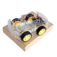 4WD 4 Wheel Smart Robot Car Chassis DC Motor for Arduino DIY Kit