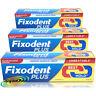 3x Fixodent Plus Dual Power Best HOLD Full & Partial Denture Adhesive Cream 40g