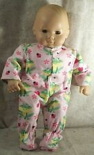 "Doll Clothes Baby Handmade Fit American Girl Boy 15"" Footed Pj's Frogs Ladybugs"