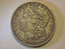 Circulated 1878 7TF Morgan Silver Dollar Ungraded Uncertified Business Strike