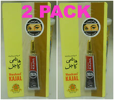 2 TUBES! HASHMI KAJAL 4.5 gm Kohl Arabia Eyeliner NON-TOXIC Natural Black Surma