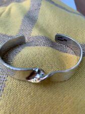 Sterling Silver Bracelet Twisted Center Front Design Man Lady'