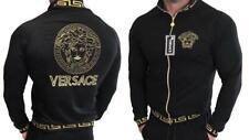 Men Versace Sweatshirt Track Jacket Long Sleeve Full Zip Black M L XL 2XL 3XL