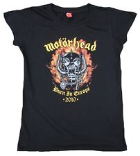 Rare Unworn Official MOTÖRHEAD 2010 BURN IN EUROPE Tour Heavy Metal T-Shirt S 36