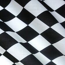 Black & White Harlequin Diamond Print Polycotton - Circus- Halloween (Per Metre)