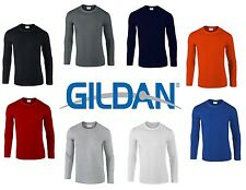 Gildan Mens Plain Premium Feel Soft Style Long Sleeve T-Shirt