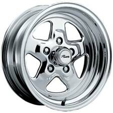 1 ~15x7 Pacer 521P Dragstar polished wheel 5x4.75 +0mm offset