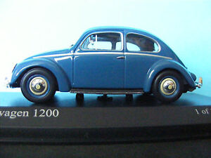 VW 1200 Beetle from 1953 in Blue a recent release from MINICHAMPS 1:43 rd scale