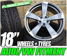 "18 "" Ttrs Rotor Style Alliage Jantes et Pneus Volkswagen Caddy"