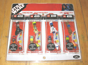 Lego Star Wars Connectible Pens Figures MB  FREE SHIPPING