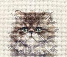 Persa Gato, Gatito ~ Completo puntada cruzada contada Kit + todos los materiales