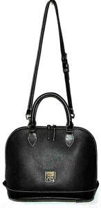 Dooney & Bourke Pebble Grain Zip Zip Satchel, Black/Black - $238 A394650