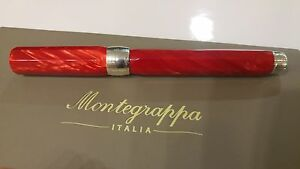 Montegrappa Symphony red celluloid/silver Rollerball pen