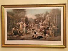 2 x Antique Lithographs Emanuel Oberhauser - Classical Scenes