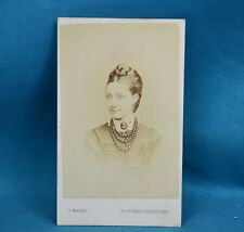 Victorian CDV Photo Carte De Visite Beauty With Jet Beads Marks St Pauls London