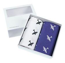 Blue and White Spitfire Handkerchief Gift Set (66-HR-20)